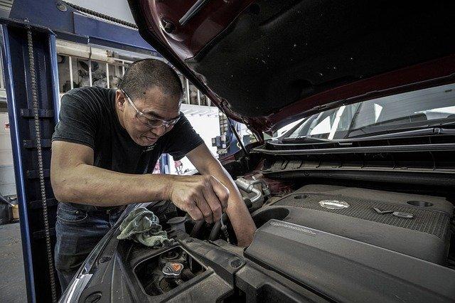 restauration d'une voiture