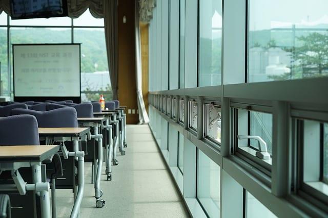 salle d'un séminaire d'entreprise
