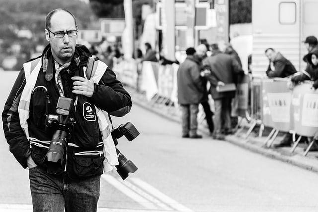 un photographe sportif