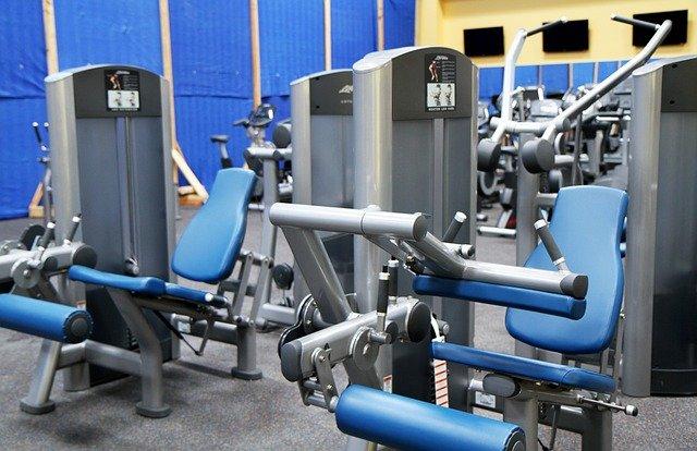 salle de sport bleu